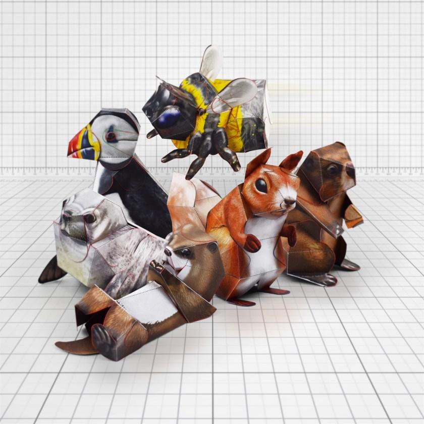 Fold Up Toys Beaver