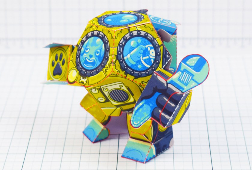 Fold Up Toys Diver Dog Paper Toy