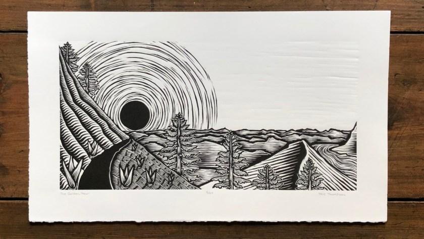 Brie Thompson linocut artist