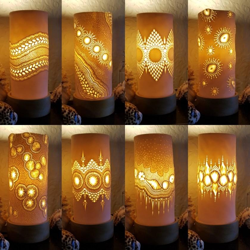 Mairi Stone ceramic lamps