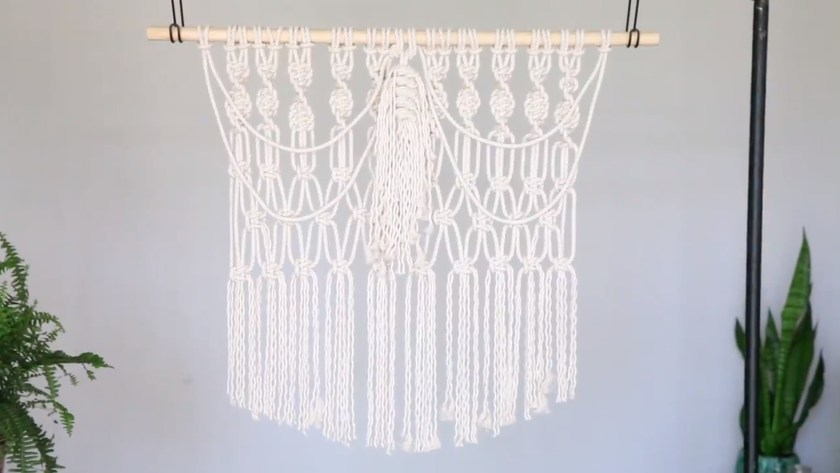 Macrame for beginners: Make a large macrame wall hanging image