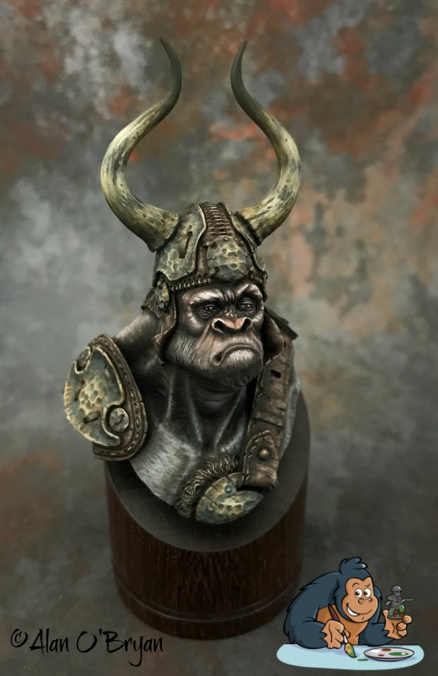 Tribal Chieftain FeR Miniatures Gorilla with a Brush