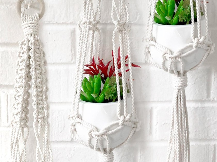 Macrame plant hanger kit by KnottyCotton