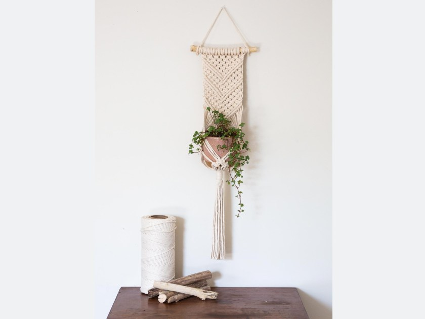 Macrame plant hanger wall hanging kit by WillowandRosebud