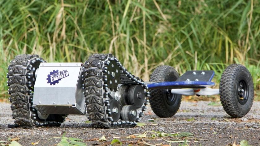 The Practical Engineer tank tread skateboard