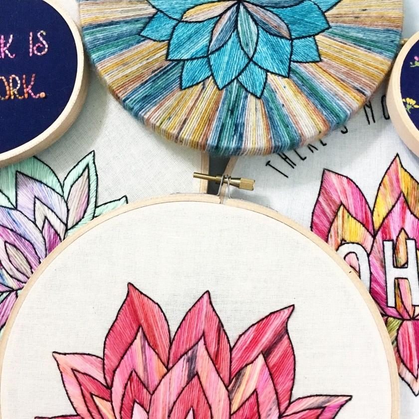 Sarah K Patro embroidery flowers