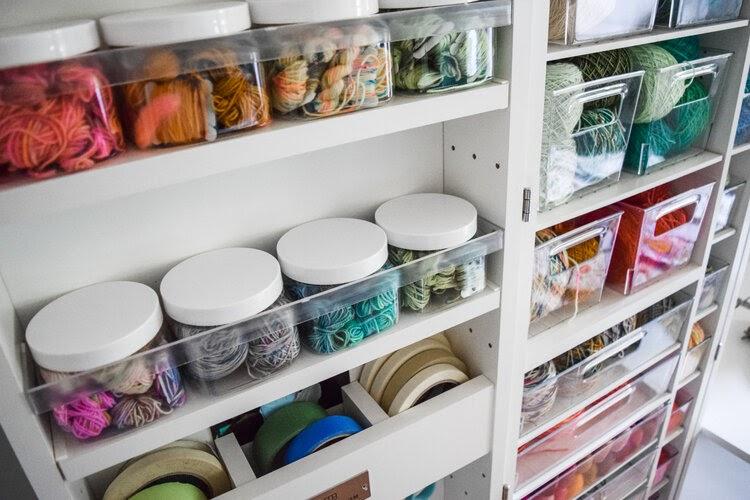 Sarah K Patro embroidery supply storage