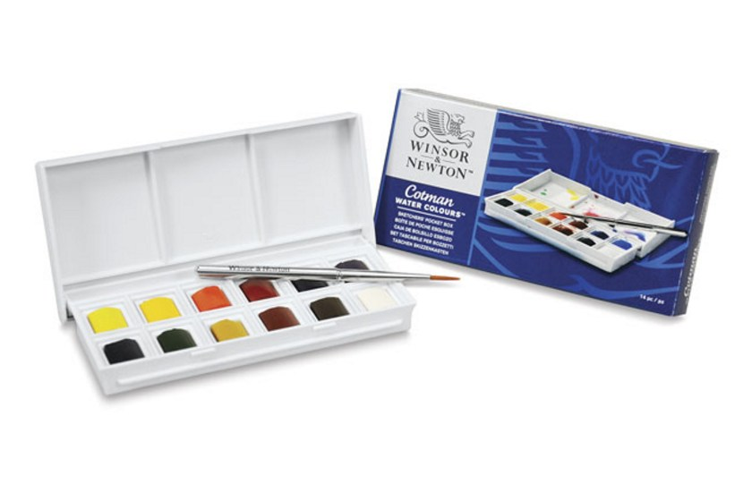 Winsor Newton pocket box travel watercolor set