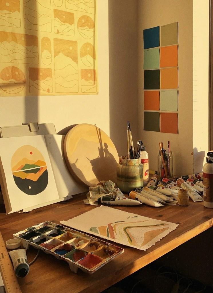 Claudia Osborn maus haus artist desk