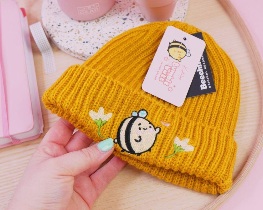 Catherine Kay Katnipp chunky knit bumblebutt hat