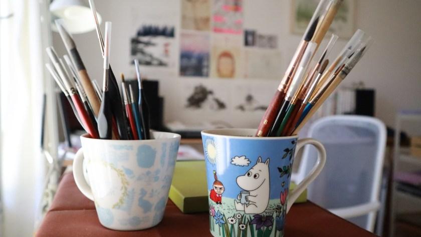 Flor Kaneshiro watercolor brushes