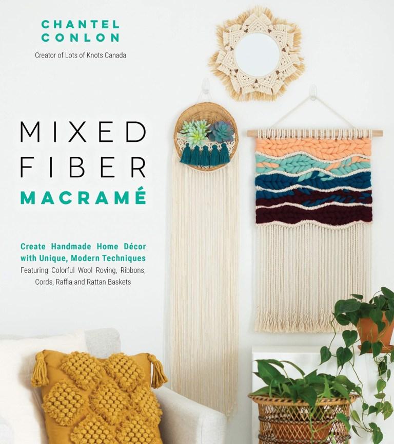 Mixed fiber macrame book