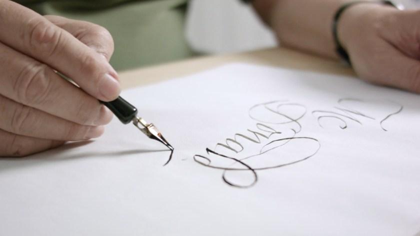 Calligraphy for an Ex LibrisDomestika course