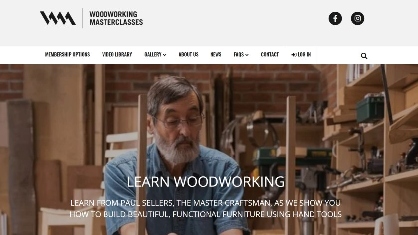 Woodworking masterclasses