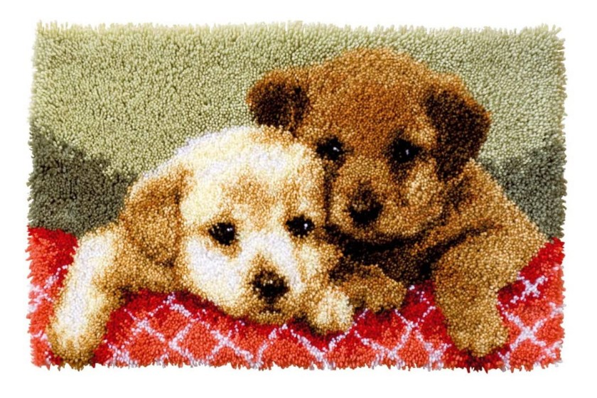 Latch hook kits dog rug