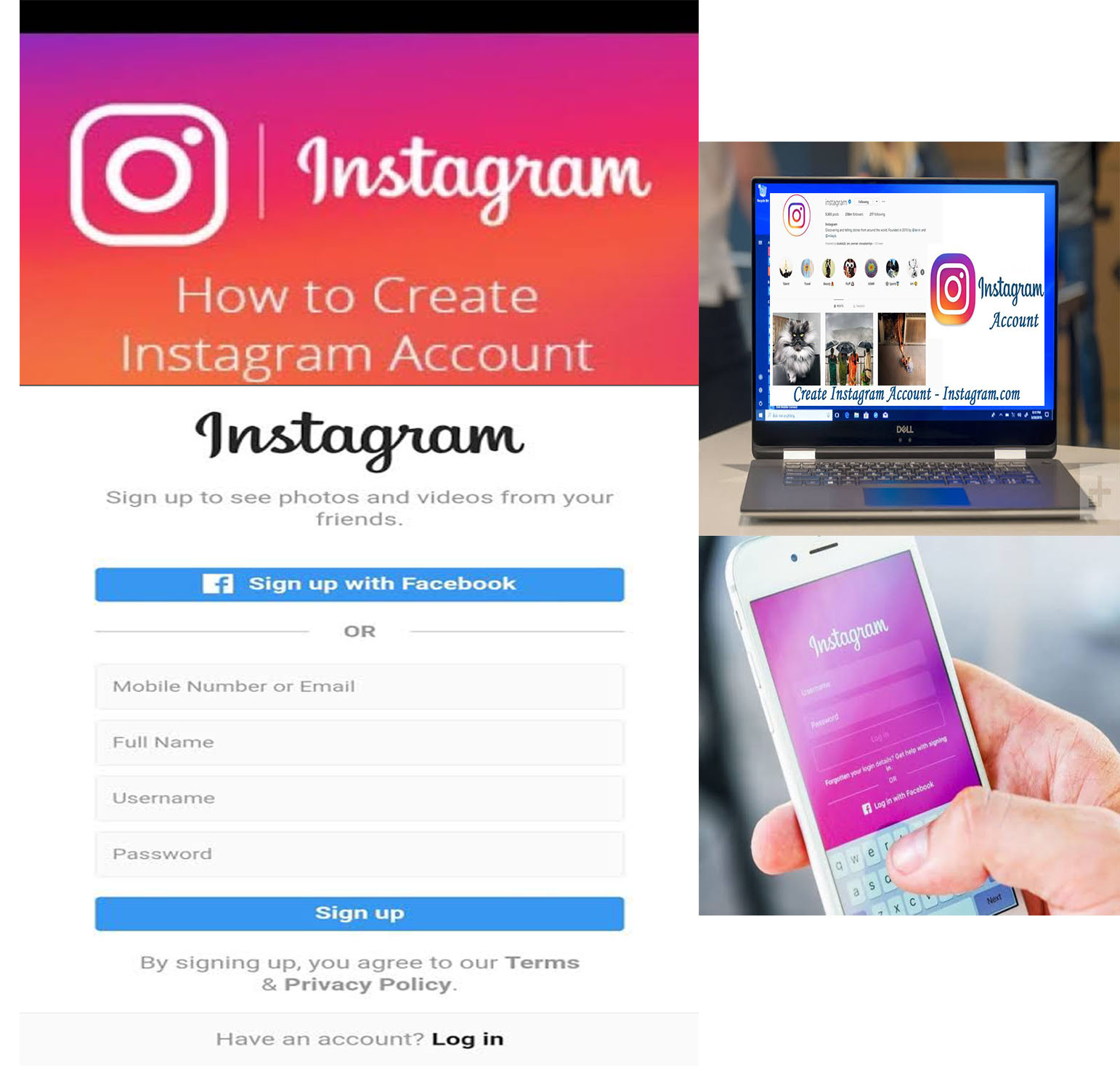 Create Instagram Account How To Create New Instagram Account Instagram With Facebook Tipcrewblog