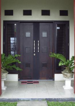 Pintu Rumah Minimalis Modern 2 Pintu Tipe Rumah Minimalis