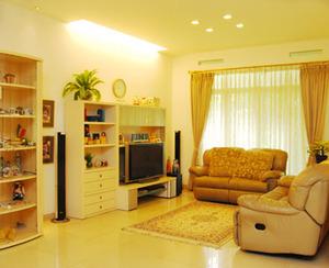 menghias rumah dengan ruang tamu tertata