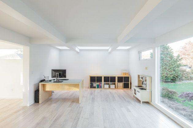Desain Kantor yang Bersih dan Segar