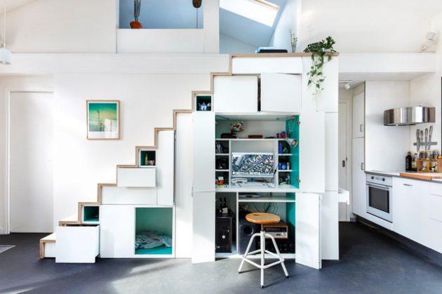 cara mengatur properti bawah tangga interior