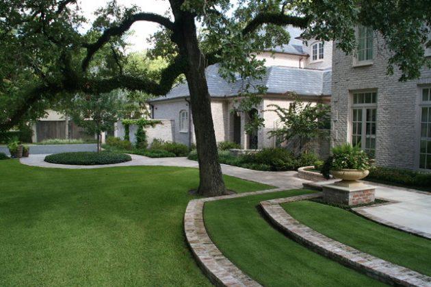 Ide Taman Rumput Pekarangan