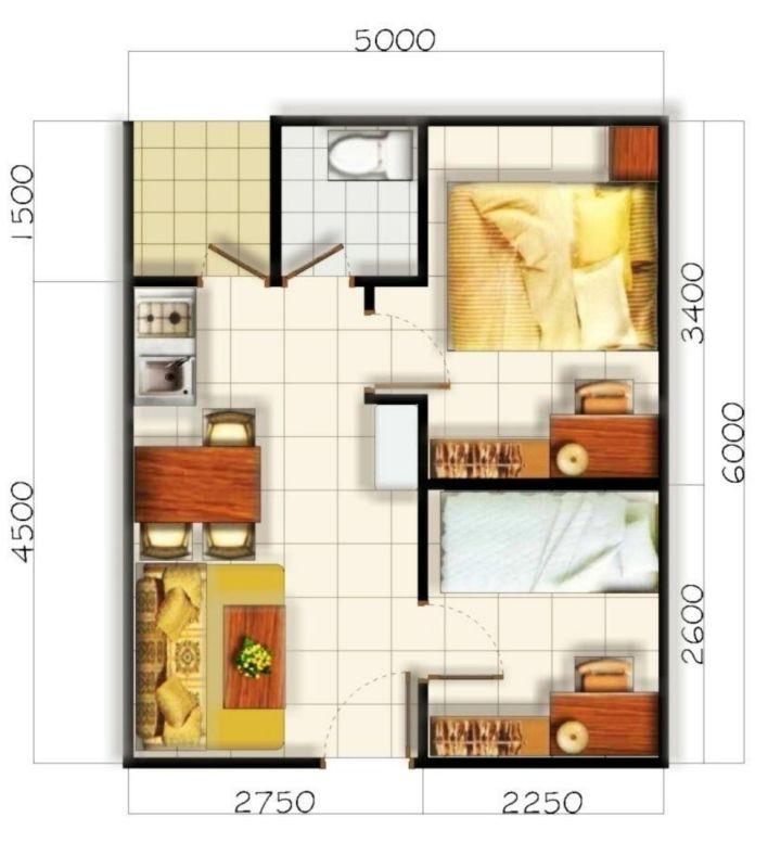 Ide Denah Rumah Minimalis Type 21
