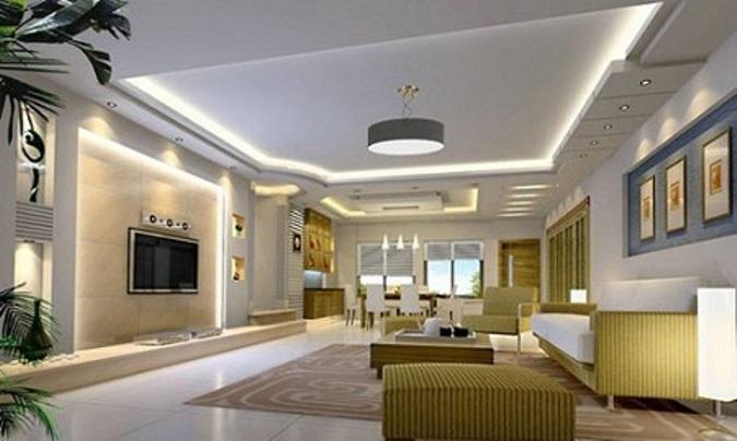 Desain Model Plafon Ruang Tamu Minimalis Tipe Rumah Minimalis