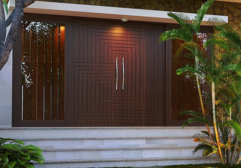 Model pintu dengan ukiran minimalis