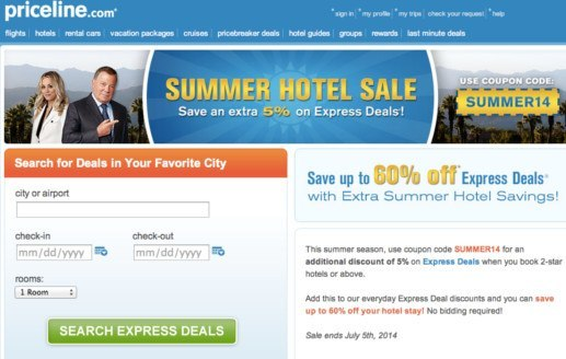 How to use a Priceline discount code. We bring you promotional codes and other deals to travel on the cheap. Priceline enables you to book hotels, flights, packages cruises and also hire cars from the comfort of your home and even from your mobile phone (more about that later), while we help you find and use the best travel deals!