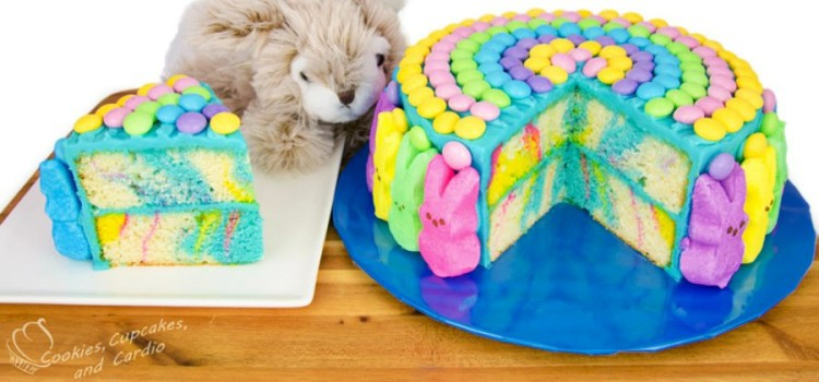 Marbled Easter Bunny Cake