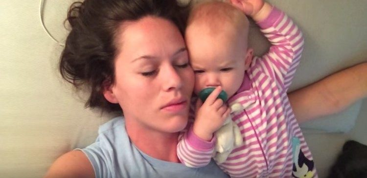Mom Tries To Sleep Next To Squirming Baby Tiphero