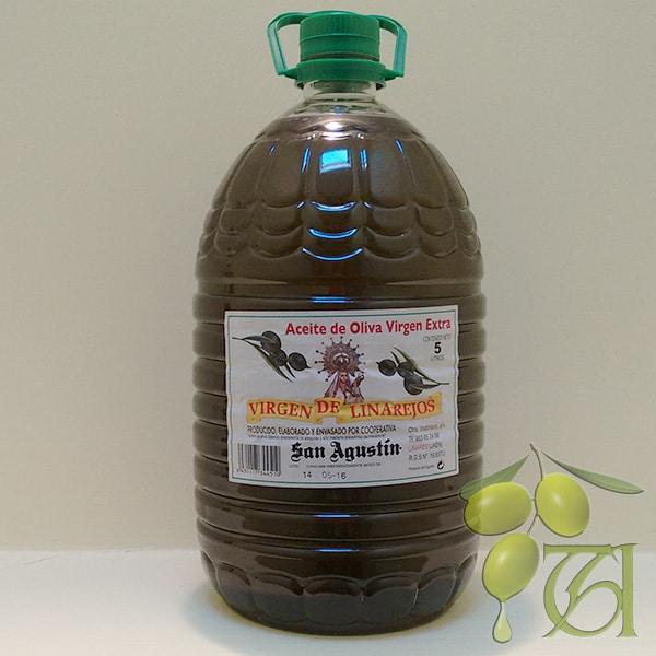 Aceite Linarejos, oliva virgen extra sin filtrar, pet 5 l