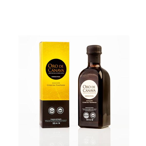 Foto: aceite de oliva de Jaén - Oro de Cánava - virgen extra vidrio 500 ml