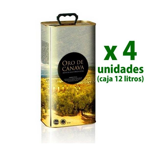 oro de cánava 4 latas de 3 litros