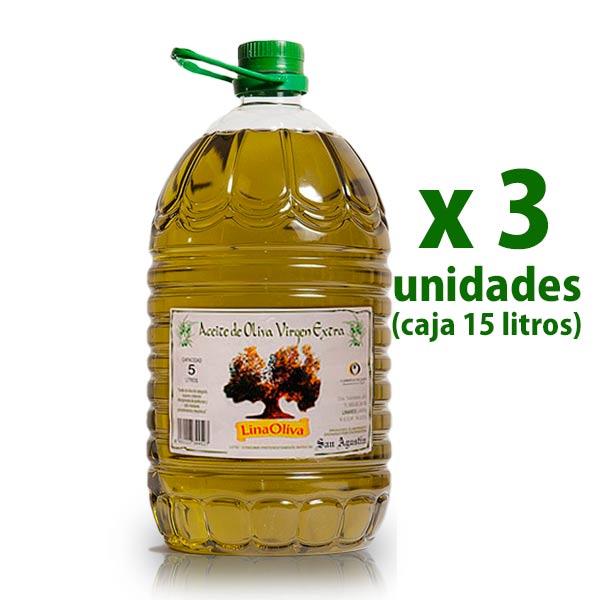 Aceite Linaoliva, oliva virgen extra, pet 5 l x 3 uds [D]