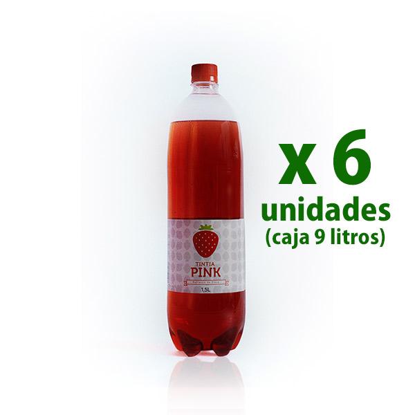 foto botella gaseosa de fresa tintia x 6 uds