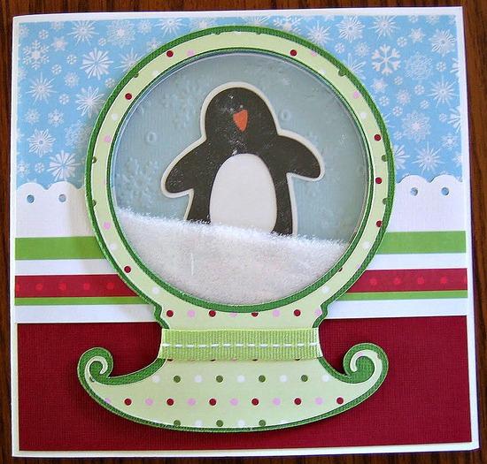 Snow Globe Homemade Christmas Card Tip Junkie