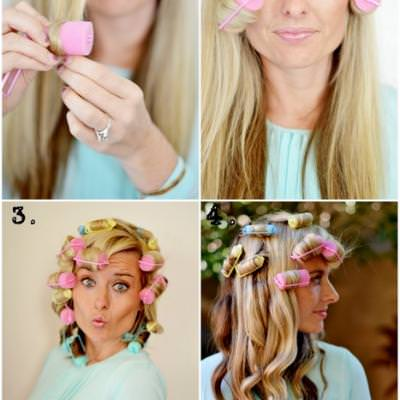 Loose Curls Using Foam Rollers Hair Styling Tips Tip
