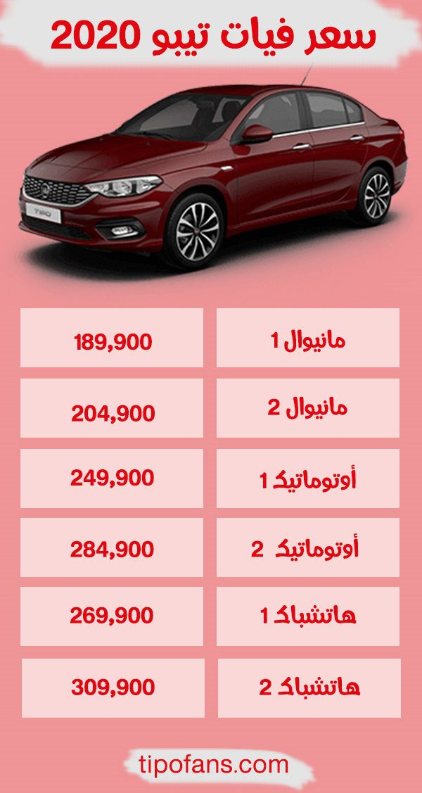 سعر فيات تيبو 2020 فى مصر
