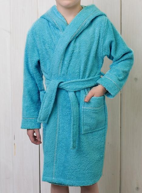 Махровый халат детский с вышивкой