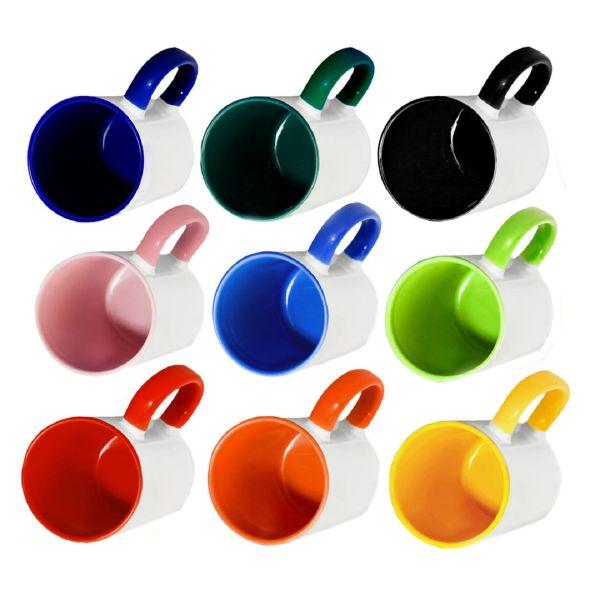 Кружка керамическая Двухцветная с печатью