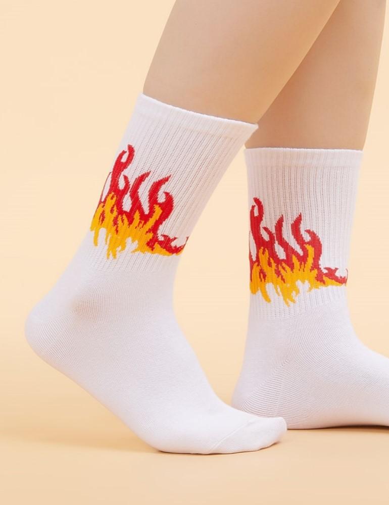 Носки спортивные с печатью
