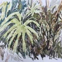 Artist: Zahari Hamidon Title: Bushes #1 Year: Medium: Watercolor on paper Price: Size: