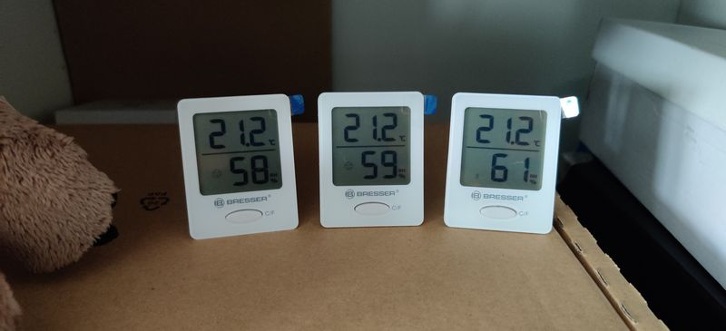 Bresser Thermometer und Hygrometer 3er Set Test Kinderzimmer