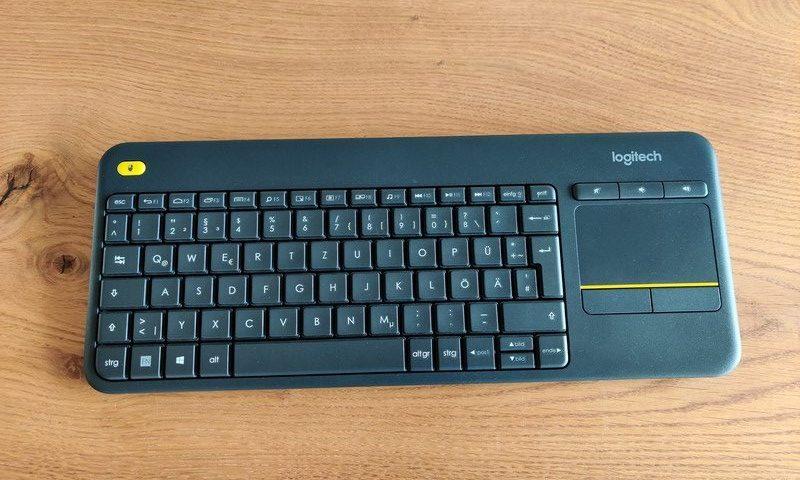 Logitech K400 Plus Tastatur für HTPC Tablet