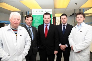 Pictured at the announcement of HKPB Scientific's new facility at Lisbunny Industrial Park, Nenagh, County Tipperary are (left to right) Paul Rigby, Dr Donncha Haverty, MEP Alan Kelly, David O'Flynn and Dr Joe Murray.