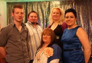 L to R:  Damien Nolan, Rearcross; Greg Star, Aglish; Liz Mitchell, Roscrea; Bridget Maher, Roscrea Front: Cora Coen, Ballinderry