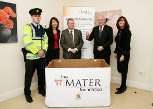 A Garda representative, Mary Moorhead CEO of The Mater Foundation, Brian Conlan CEO  Mater Hospital, Stephen McGrath from the HSE and Noirin Bannon from the Mater Hospital.