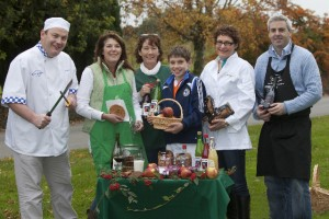 Tipperary Food Producers preparing for their 'Christmas Cookery Extravaganza which will take place in Clonmel, Co Tipperary on November 10  - Pat Whelan of James Whelan Butchers and Chairperson of the Tipperary Food Producers, Noreen O'Donovan from the Apple Farm, Cate McCarthy of The Cookie Jar; Daniel Traas from the Apple Farm,  Nuala Hickey of Hickey's Bakery and Gary Gubbins Red Nose Wine - check out  www.tipperaryfoodproducers.com for further information - Photo John D Kelly