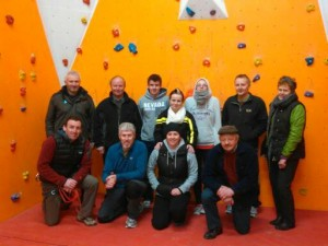 New volunteers for Upperchurch Climbing Wall